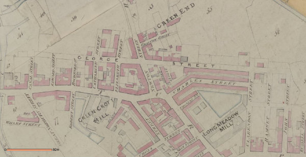 Map of George Street 1840