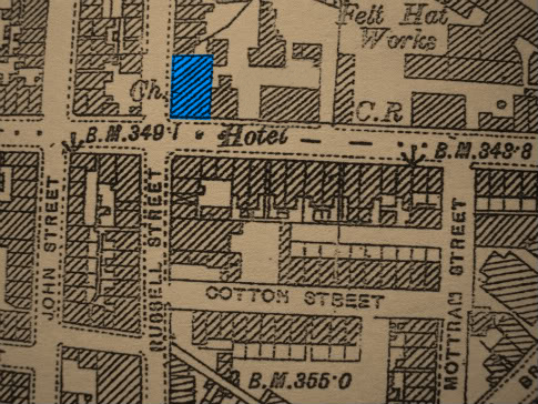Map of George Street 1890